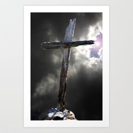 The Old Rugged Cross Art Print