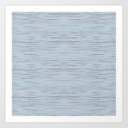 Meteor Stripes - Light Blue Art Print