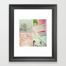 Pink Peppermint Collection Framed Art Print