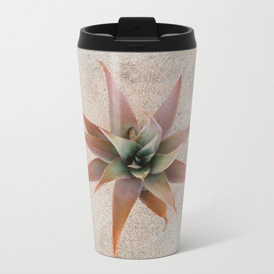 Mexico Succulent Metal Travel Mug