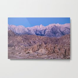 Mount Whitney /view from Movie Flats, Lone Pine, CA. Metal Print