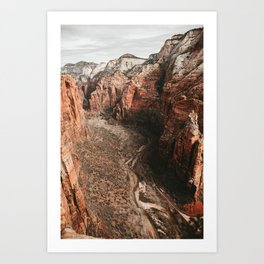 Zion Canyon Scenic Road Art Print