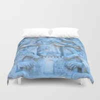 spanish Duvet Covers featuring Spanish Monastery  by Gloria Larravide
