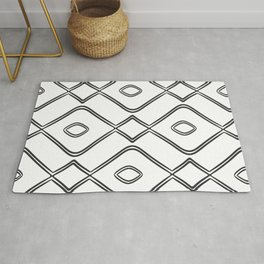 Modern Boho Ogee in Black and White Rug