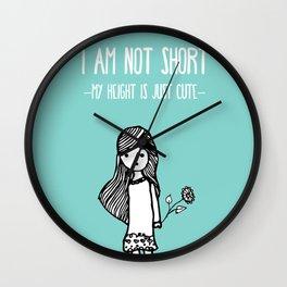 I am not short Wall Clock