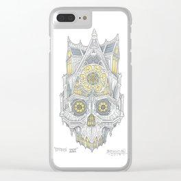 ChurchSkull Illustration Clear iPhone Case