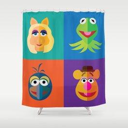 Muppet Minimalism Shower Curtain
