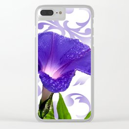 The Morning Glory Clear iPhone Case