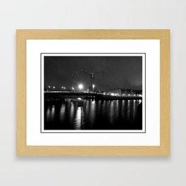 constructing the night. Framed Art Print
