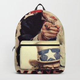 Uncle Sam War Poster Backpack