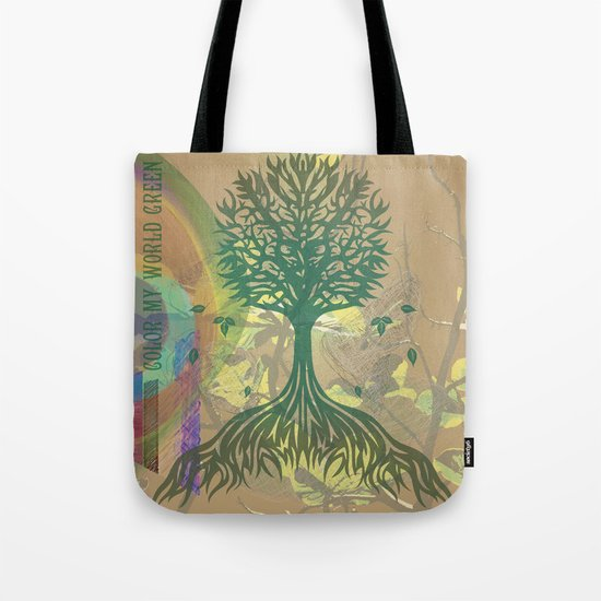 Color My World Green Tote Bag