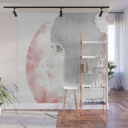 Portrait of young Japanese girl Wall Mural