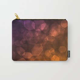 Orange blue abstract pattern . Carry-All Pouch