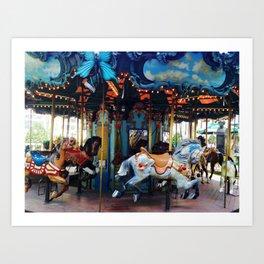 Spring Carousel Art Print