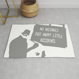 No Mistakes, Just Happy Litte Accidents Rug