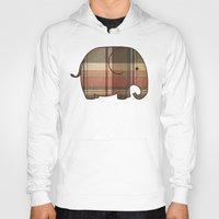 plaid Hoodies featuring Plaid Elephant  by Terry Fan