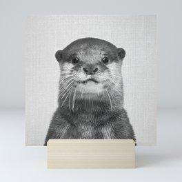 Otter - Black & White Mini Art Print