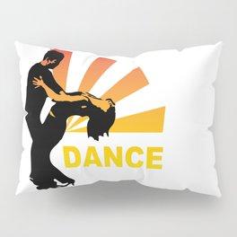 dancing couple silhouette - brazilian zouk Pillow Sham