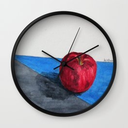 Single red Wall Clock