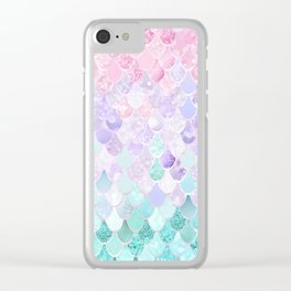 Mermaid Pastel Iridescent Clear iPhone Case