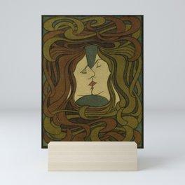 der kuss. 1898  oude poster Mini Art Print