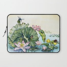 Japanese Water Lilies and Lotus Flowers Laptop Sleeve