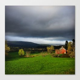 Stormy Country Day Canvas Print