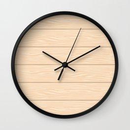 New Fall Wood Planks Wall Clock