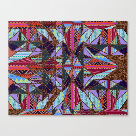 RETRO KALEIDOSCOPE //TWO Canvas Print