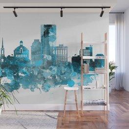 Lexington Monochrome Blue Skyline Wall Mural