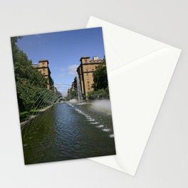 fountain of monumento a los caidos pamplona to Carlos III Stationery Cards