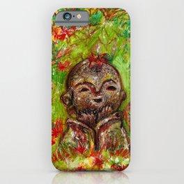 Jizo in autumn iPhone Case