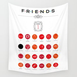 Tribute to Friends: Season 1 Wall Tapestry