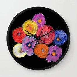 Big blooms in big colour Wall Clock