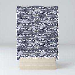 Blue Scribbles Pattern 03 Mini Art Print