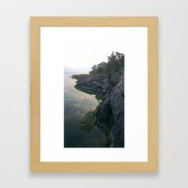 Clouds below Framed Art Print