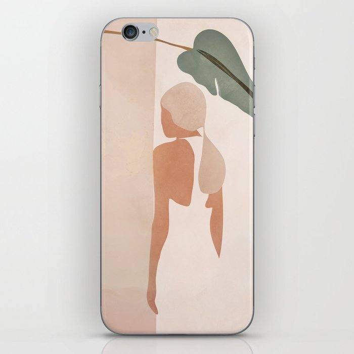 Abstract Woman in a Dress iPhone Skin