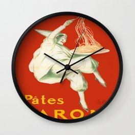 Vintage poster - Pates Baroni Wall Clock