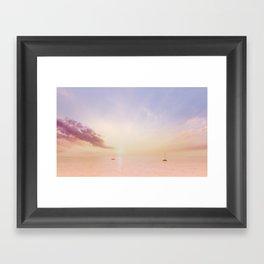 Sailing On The Seas Framed Art Print
