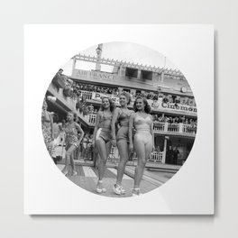 Vintage Swimsuit Models Metal Print