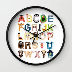 Muppet Alphabet Wall Clock