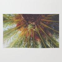 palms Area & Throw Rugs featuring Palms by crashley96