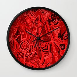 Red Hot Music Wall Clock