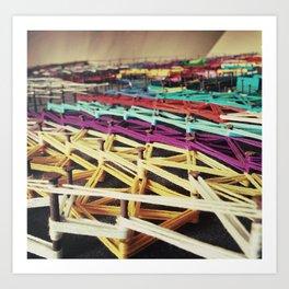 fabrical colours Art Print