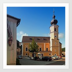 The village church of Helfenberg I | architectural photography Art Print
