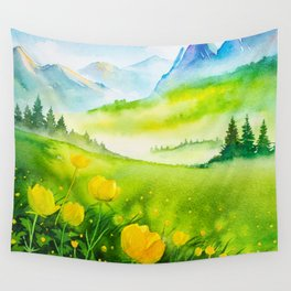 Spring scenery #5 Wall Tapestry
