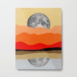 Moonlight landscape Metal Print