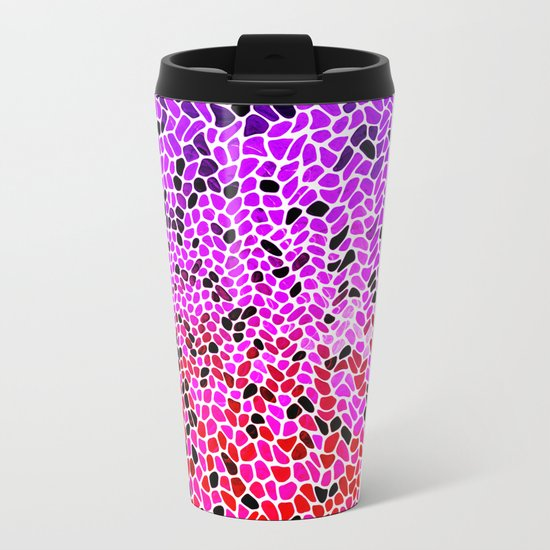 THINK LILAC CORAL Metal Travel Mug