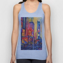 Times Square New York Unisex Tank Top