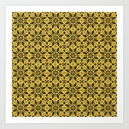 Primrose Yellow Floral Pattern Art Print